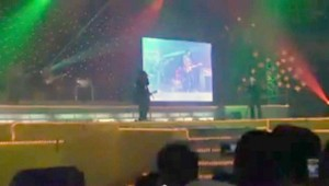 Band performing and New Year's Eve in Makati in 2008