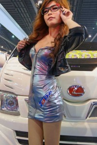 Sales girl at Bangkok Motor Show