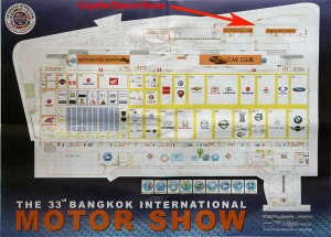 Floor map of the Bangkok Motor Show.